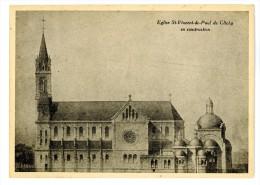 92 - CLICHY - Eglise St Vincent De Paul De Clichy En Construction  - Voir Scan - Clichy