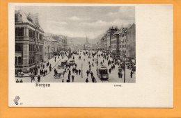 Bergen Torvet Tram 1900 Norway Postcard - Norvège