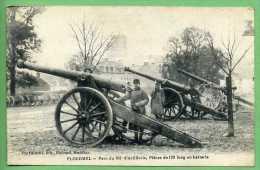 56 PLOERMEL - Parc Du 102è D'artillerie, Pièces De 120 Long En Batterie - Ploërmel