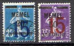 Memel 1921 Mi 47-48, Gestempelt [140713VI] @ - Klaipeda