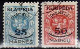 Memel (Klaipeda) 1923 Mi 125-126, Gestempelt [140713VI] @ - Memelgebiet