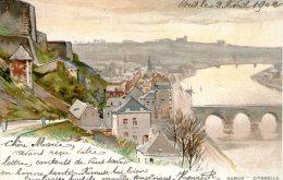 NAMUR - Citadelle. Peinture Aquarelle - Namur