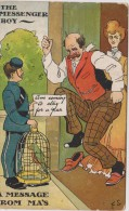 F.S. -  The Messenger Boy, A Message From MA's. Post Used 1908 - Humor