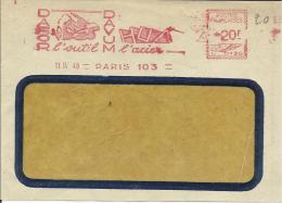 Lettre  EMA Havas C 1949  Metier Usine  Industrie Outils  Davum Dafor Acier Paris   L20/13 - Usines & Industries