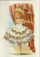 CARTE BRODEE DANSEUSE EN TUTU BALLERINE ILL. MARY MAY NELLES EDIT PROVENCALES - Bordados