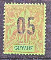 GUYANE  TYPE GROUPE SURCHARGE   N� 68  NEUF* TTB