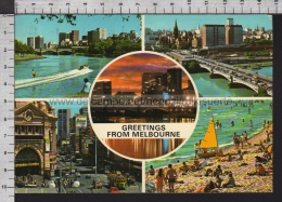S6737 AUSTRALIA GREETINGS FROM MELBOURNE VG - Melbourne
