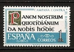 Espagne Espana 1963 N° 1175 ** Campagne Contre La Faim, Lettres D´imprimerie, Alimentation, Agriculture, Famine - 1931-Today: 2nd Rep - ... Juan Carlos I