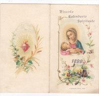 CALENDARIETTO  RELIGIOSO LIBERTY PICCOLO CALENDARIO SPIRITUALE   MADONNA COL BAMBINO 1899-2-0882-17453-452 - Kalender