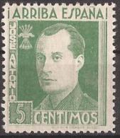 FET32-LM091TCSC.Espagne.Spain.España.JOSE ANTONIO PRIMO DE RIBERA.Falange.1938. (Galvez 32*)en Nuevo.RARO - Sin Clasificación