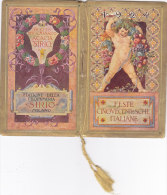 "CALENDARIETTO ""FESTE CINQUECENTESHE ITALIANE"" PROFUMO ACACIA SIRIO MILANO FOLCLORE  FIRMA GRONDONA 1924-2-0882-17457-456 - Calendars"