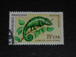 REUNION YT 399 OBLITERE - FAUNE REPTILE CAMELEON - - Réunion (1852-1975)