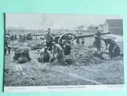 1914 - D'Après L'illustration, Pièce D'Artillerie Anglaise En BELGIQUE - Guerre 1914-18