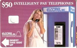 TARJETA PRUEBA DE BELICE DE $50 DE ELCOTEL (RARA) - Belize