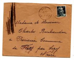 Lettre - 1945 - Marianne De Gandon - - Marcophilie (Lettres)