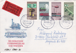 DDR Eil-Brief Mit Mi.-Nr. 2968-2971 - Stempel Tangerhütte (0554) - DDR