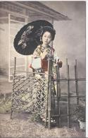 7717 - Femme Japonaise Avec Ombrelle / Japanese Women With Umbrella - Donne