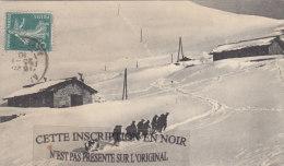 CPA: Un Poste De Chasseurs Alpins Dans Les Alpes - Mestieri