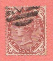 GB SC #80 U Queen Victoria W/possibly V. Lt. Toning Marks, CV $50.00 - 1840-1901 (Victoria)