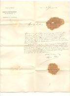 """LIEGE - Lettre à Entête """" Journal LA MEUSE - Cabinet Du Directeur - Gérant  En 1862 - Presse, Imprimerie Et Lithographie - 1800 – 1899"""