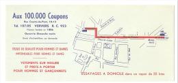 """Buvard - """"Aux 100.000 Coupons"""" VERVIERS - Tissus Et Vêtements - Textile & Vestimentaire"""