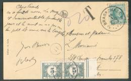 N°194 - 10 Centimes Houyoux Obl. Sc BRASSCHAET 2 S/C.P. Du 19-I-1926 Vers Bruxelles Et Taxée à 10 Centimes Par TX N°32(p - Postage Due