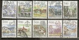 Suisse Switzerland 1983 Vues Avec Zodiac Etc Obl - Used Stamps