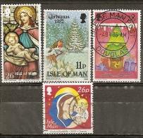 Man Isle De Various Noel Christmas Avec Oiseaux Robins Obl - Man (Eiland)