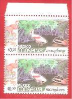"MESSICO - MEXICO - COPPIA MNH BORDO - 2002 - Mexico Conserva ""Mangrove"" -  0,50 $ - Michel MX 2961A - Mexico"