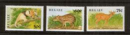 Belize 1015-17 ** Tiere (Kurzsatz) 1989 // Mnh Animals (short Set) - Briefmarken