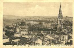 Angouleme. Les Quartiers Saint Martial Et Saint Roch Et Au Loin Coteaux De Ruelle - Angouleme