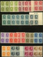ES310-L2173Tcfr.España Spain Espagne.Rey  ALFONSO Xlll TIPO VAQUER. 1922/30 (Ed.310/23** Bl4)  MUY BONITA - Familias Reales