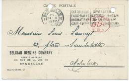 BELGIAN BENZINE COMPAY 63 RUE DE LA LOI BRUXELLES - Industrie
