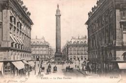 75 PARIS LA PLACE VENDOME  CIRCULEE 1905 - Plazas