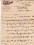 Marseille  Lettre Avec En Tete Grand Hotel   D'angleterre Et De Russie  1912 - Marcofilia (sobres)