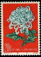 1961 Chrysanthemum,Chrysanthem En,Chrysanthèmes,China,Ch Ine,Cina,Mi.588,MNH - Unused Stamps
