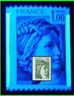 Sabine Roul 1.00 Vert - Beau Déplacement De Bande Phospho - 1/3 Gauche - 2/3 Droite - N° 1981A - 1977-81 Sabine De Gandon