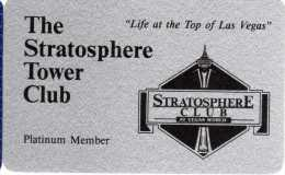 Carte De Membre Casino : The Stratosphere Tower Club Las Vegas (Carte Vierge) - Casino Cards