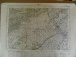 CARTE GEOGRAPHIQUE - NIMES - Villages Quatre Angles Camp Des Garrigues/Poulx - Théziers - Caissargues/Garons - Tarascon - Cartes Topographiques