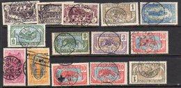 Moyen Congo 14 Stamps With Better Cancels (fk78) - Congo Français (1891-1960)