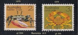1973 - Oceanie - Timbre D' Australie - 2 C. Crabe + 3 C . Crabe Des Coraux