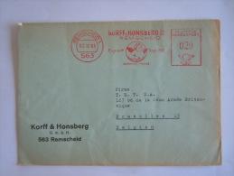 Germany Duitsland Allemagne Brief Lettre Letter EMA 1965 Korff & Honsberg Remscheid Angel Ange - [7] West-Duitsland