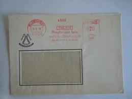 Germany Allemagne Brief Lettre Letter EMA 1966 Phosphorsaure Salze Aus Budenheim Am Rhein Chemische Fabrik - [7] West-Duitsland