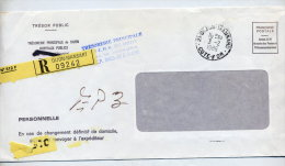 Lettre Recommandee Franchise Postale Cachet Dijon Mansart - Marcophilie (Lettres)