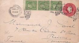 USA - 1930  - ENTIER POSTAL - ENVELOPPE  - DE NEW YORK A REIMS  ( FRANCE )