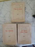 SARTRE Jean Paul - 3 TOMES  : Les Chemins De La Liberté  - NRF GALLIMAR - - Psychology/Philosophy