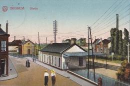 BELG8  --  ISEGHEM  --  STATIE  --  BAHNHOF, LA GARE  --  DEUTSCHE FELDPOST   --  1916 - Izegem