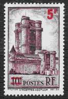 France - N°  491 * Vincennes - Le Donjon Du Château - Surchargé 5 Frs - Nuovi