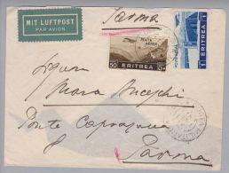 Afrika Eritrea 1937-06-06 Militärpost #130 Brief Nach Parma - Erythrée