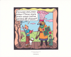 Extrait De Tintin Le Temple Du Soleil - Planche 23 Strip 3 - Tintin Rêvant+Tournesol+Haddock - Hergé-Moulinsart 2010 - Books, Magazines, Comics